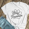 Stay pawsitive pet lover adult unisex crew neck or women's v-neck shirt