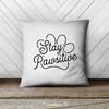 Stay pawsitive pet lover throw pillowcase pillow