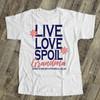 Nana or grandma shirt live love spoil flowered grandma personalized Tshirt