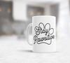 Stay pawsitive pet lover coffee mug
