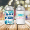 Bachelorette party bride and guests beach please can coolies