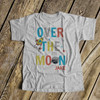 Spaceship rocket over the moon Tshirt