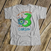 Little monster birthday any age personalized Tshirt