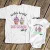 Big sister little sister sweet cupcake sibling Tshirt set