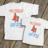Father's Day superhero dad you're doing a super job from daughter matching shirt set