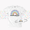 Teacher kindergarten or any grade welcome rainbow team shirt with face mask option