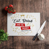 Holiday party eat drink be merry personalized cutting board