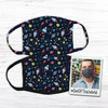 Out of this world space themed fabric face mask