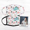 Nurse funny animals personalized fabric face mask