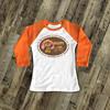 Thanksgiving turkey and pumpkin girl my first Thanksgiving raglan shirt