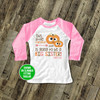 Googly eye pumpkin big sister to be pregnancy announcement raglan shirt
