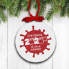 Covid Christmas the year we quarantined holiday ornament