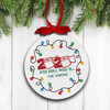 Christmas 2020 just roll with it personalized holiday ornament