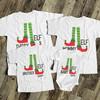 Christmas elf family matching FOUR shirt gift set