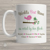 Coffee mug nana or grandma world's best Nana voted by flock personalized mug