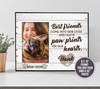 Pet memorial paw prints on our heart personalized photo frame