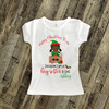 Merry Christmas to me big sister to be elf pregnancy announcement Tshirt