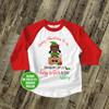 Merry Christmas to me big sister to be elf pregnancy announcement raglan shirt