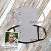 Winter snowflakes and stars personalized fabric face mask