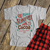 Christmas family sleigh rides and hot cocoa unisex Tshirt with pants option