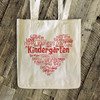 Valentine heart collage teacher name grade personalized tote bag