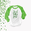 St. Patrick's Day Irish girl ADULT raglan shirt