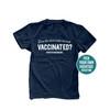 Does this shirt make me look vaccinated covid-19 custom hashtag unisex adult DARK Tshirt