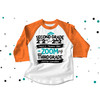 Second grade quarantine style zooming into third grade completion raglan shirt