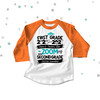 First grade quarantine style zooming into second grade completion raglan shirt