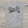 Uncle shirt or uncle to be established any year custom Tshirt