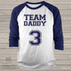 Daddy shirt team daddy personalized colorblock raglan Tshirt