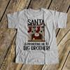 Christmas shirt big brother santa is promoting me to big brother
