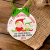 Holiday ornament baby's first Christmas with siblings personalized Christmas ornament