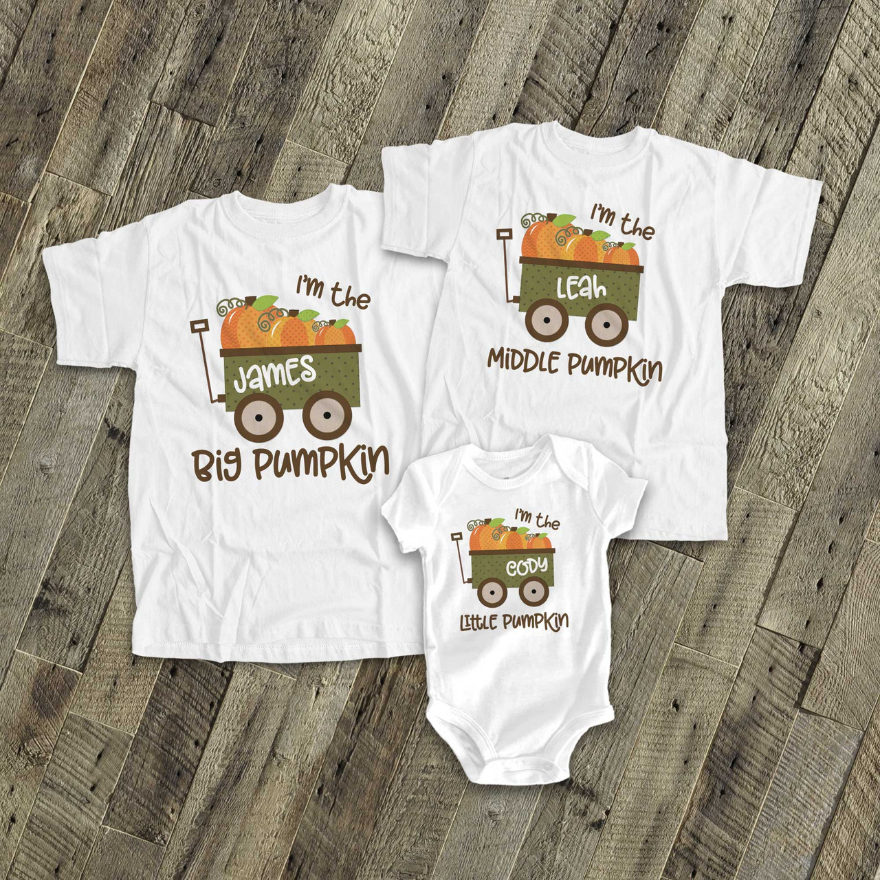 Pumpkin T-Shirt All Ages Optional Personalised
