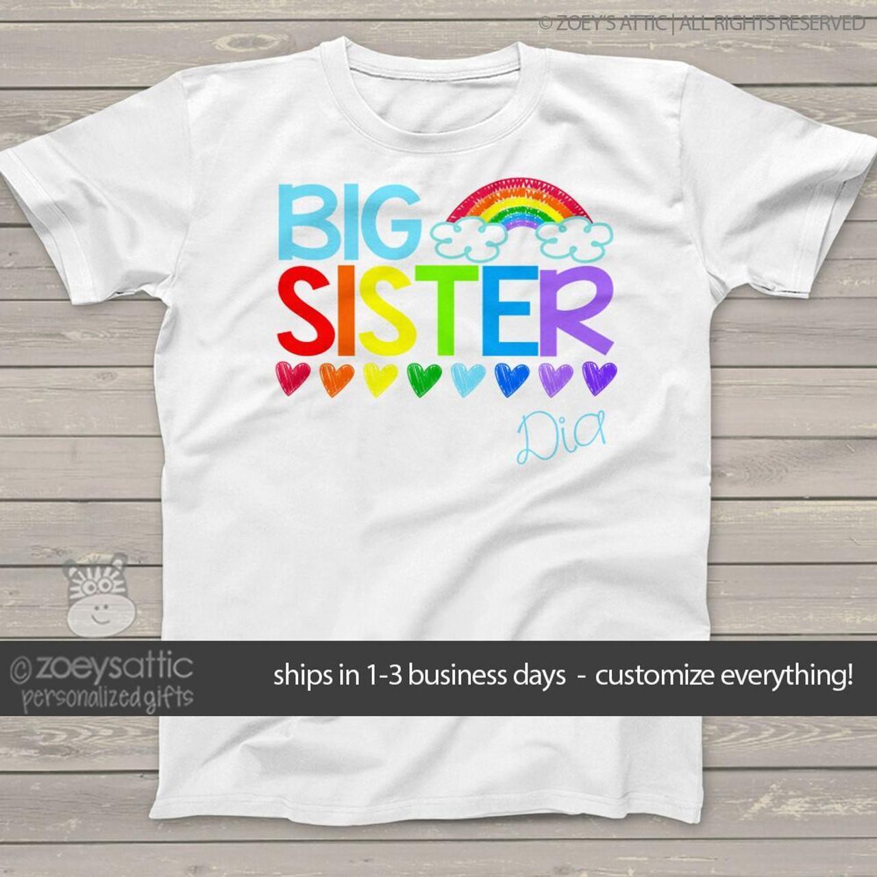 Personalized Toddler Shirts Big Sister Shirts Only Child Expiring Custom Sister Shirt