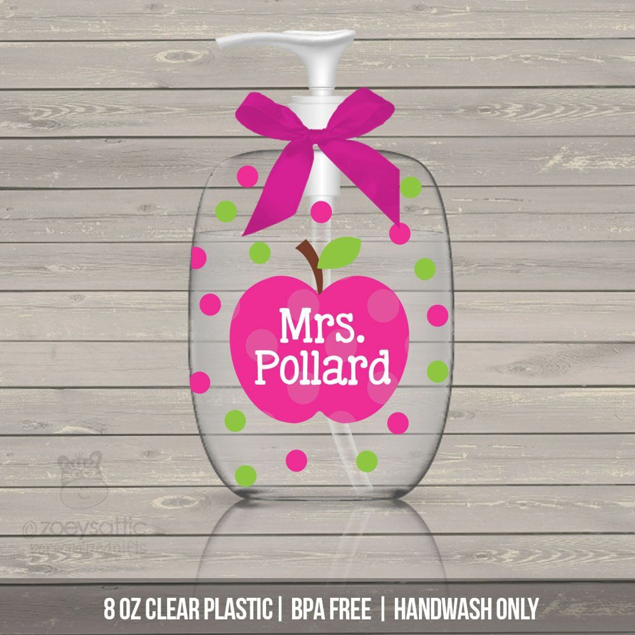 Teacher Gift Lotion Or Hand Sanitizer Or Soap Bottle Personalized Teacher Gift Bpa Free