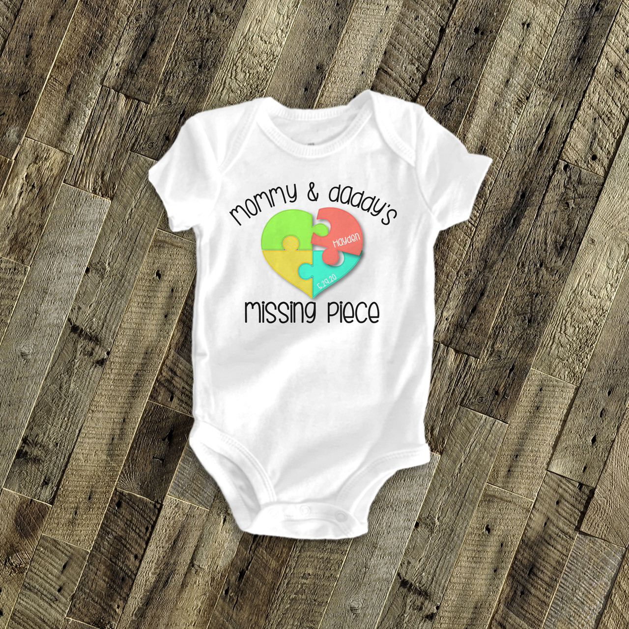 NEW Personalized 1st First Birthday Puppy Dog Baby Toddler One Piece Shirt Body Suit