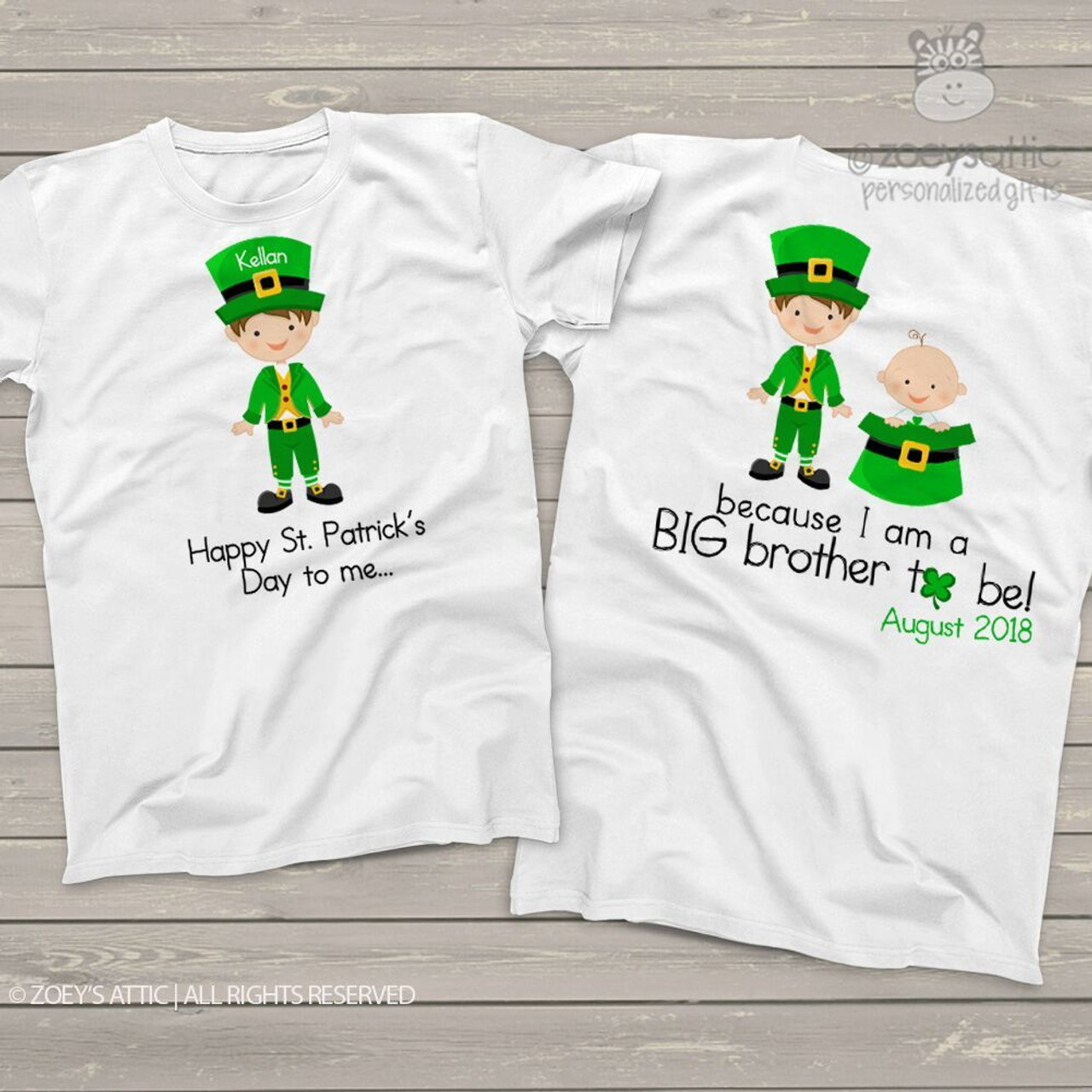 e4e12df4 personalized kids shirt, Irish lad big brother to be St. Patrick's  pregnancy announcement t-shirt