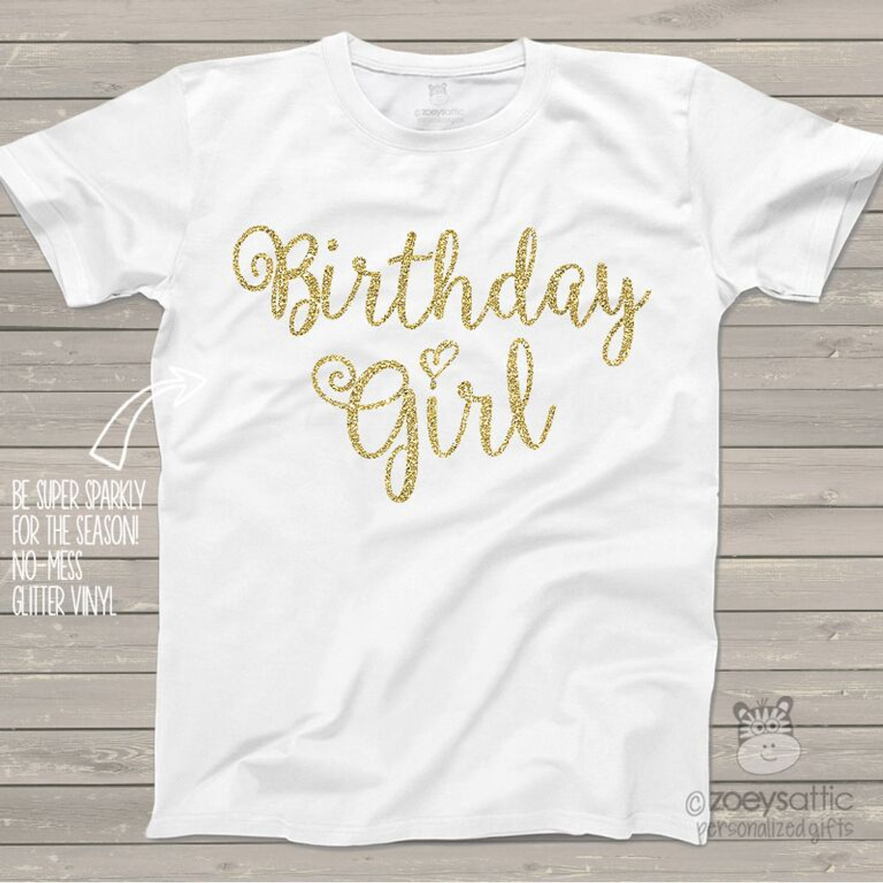 6e7c1ac0446 glitter birthday shirt, sparkly birthday girl shirt