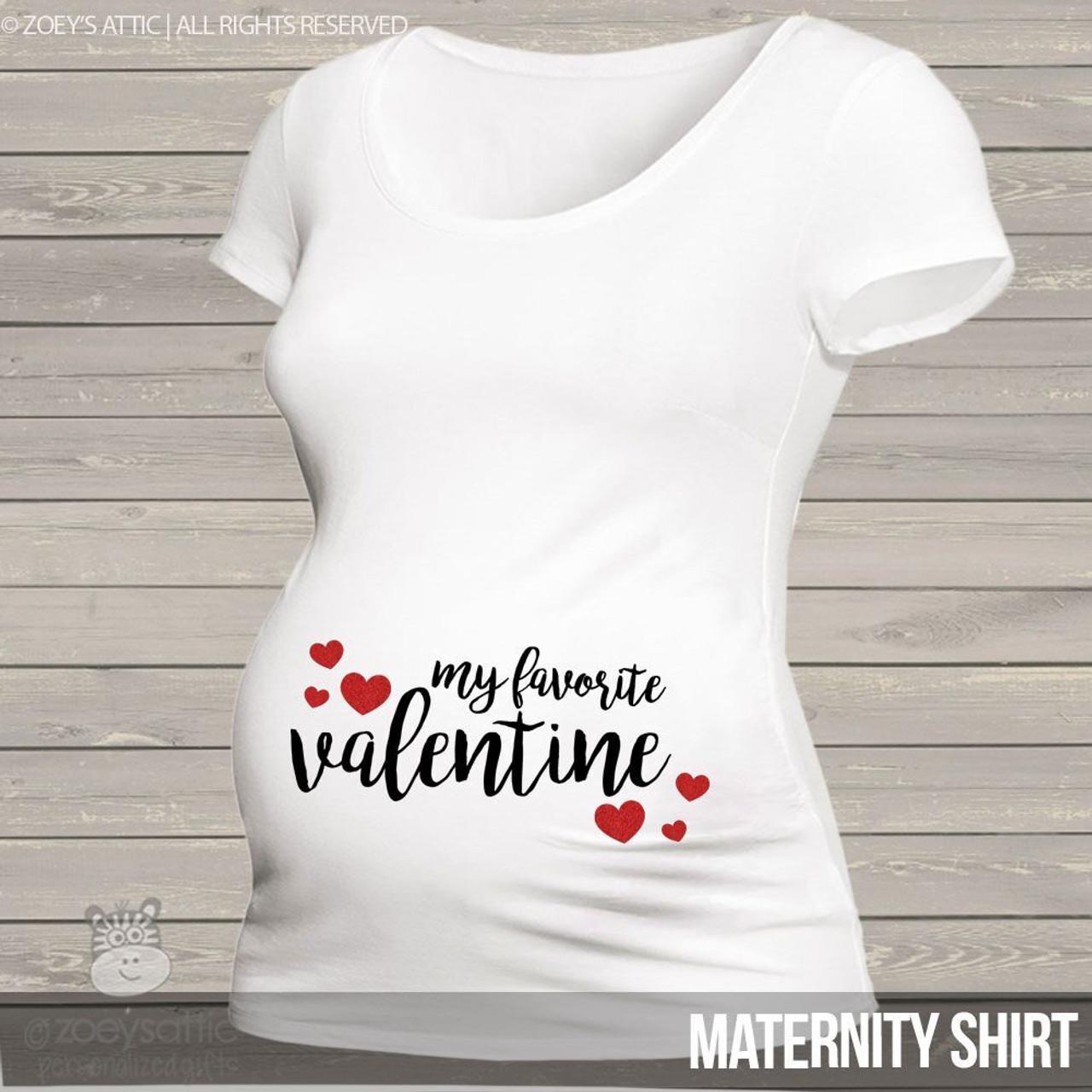 01e3d51b3a292 Valentine maternity shirt, glitter hearts custom top