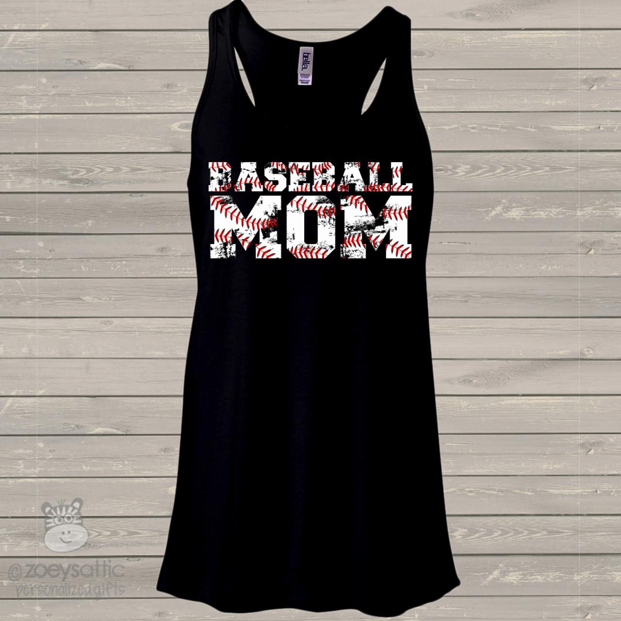 baseball gift for mom women\u2019s baseball tank softball tank Wood Baseball Tank Top cute baseball tank