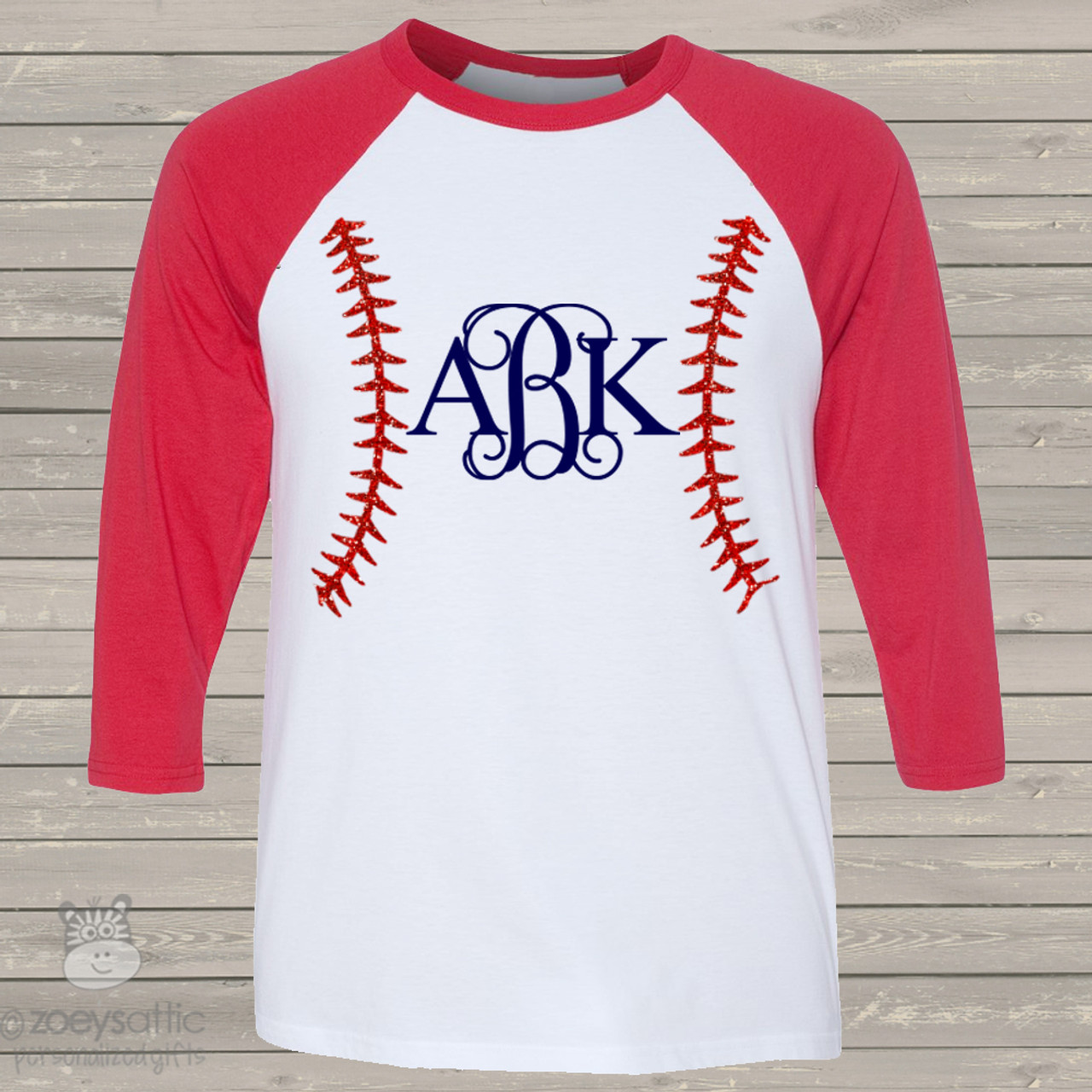 Monogram Baseball Shirt Baseball Bling Custom Shirt