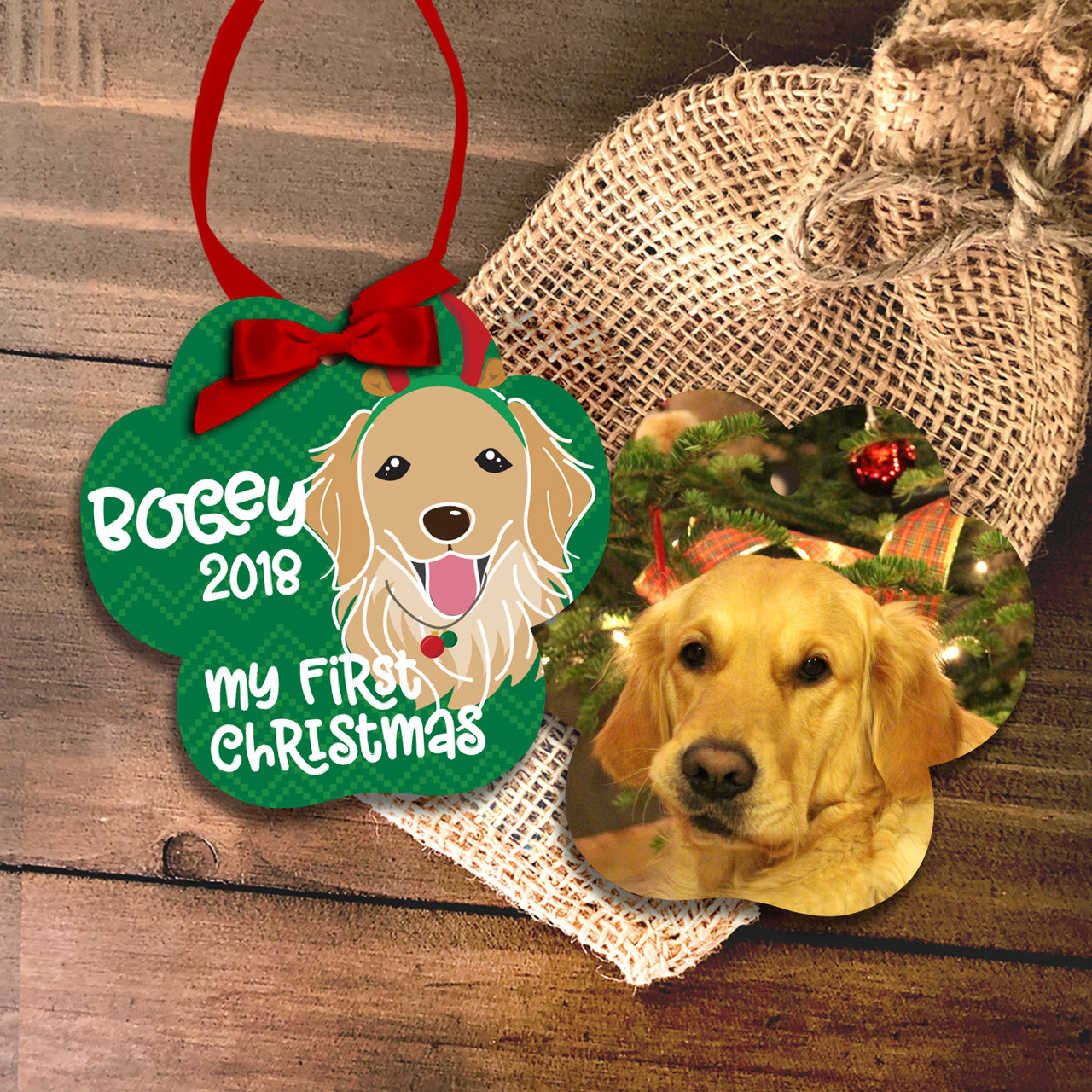 Dogs First Christmas Ornament.Pet S First Christmas Ornament With Personalized Dog Breeds