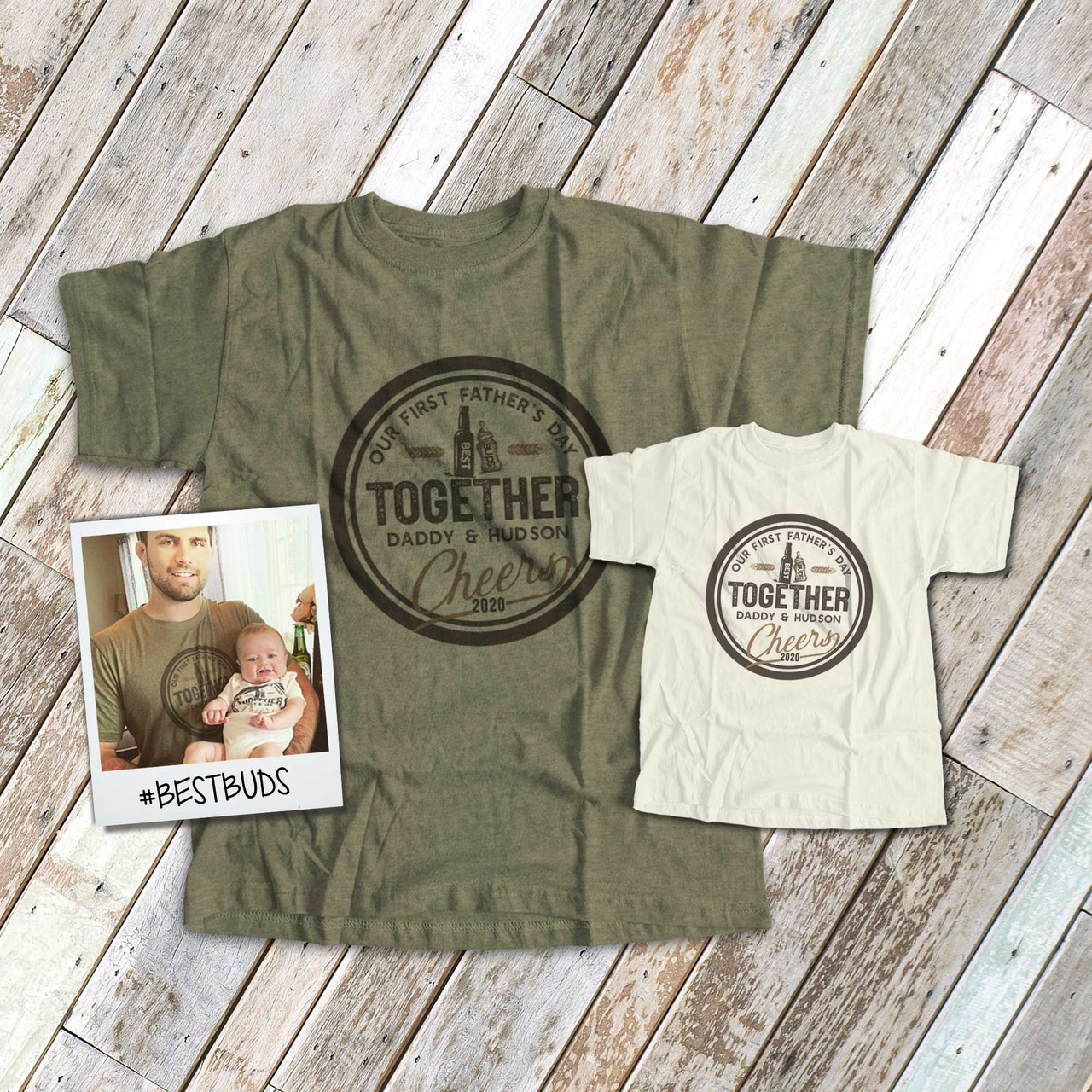 Matching Father Baby Gift Set Mens T Shirt /& Baby T-Shirt Baby Boy Wording /& Daddy Wording