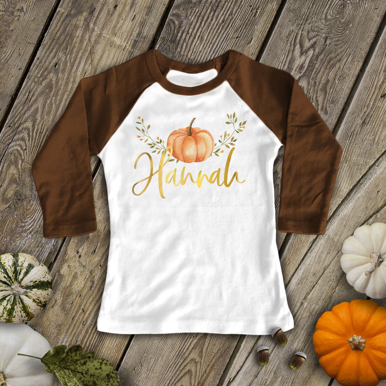 Thankful Glitter Pumpkin Baby Girl Heather bodysuit or Shirt