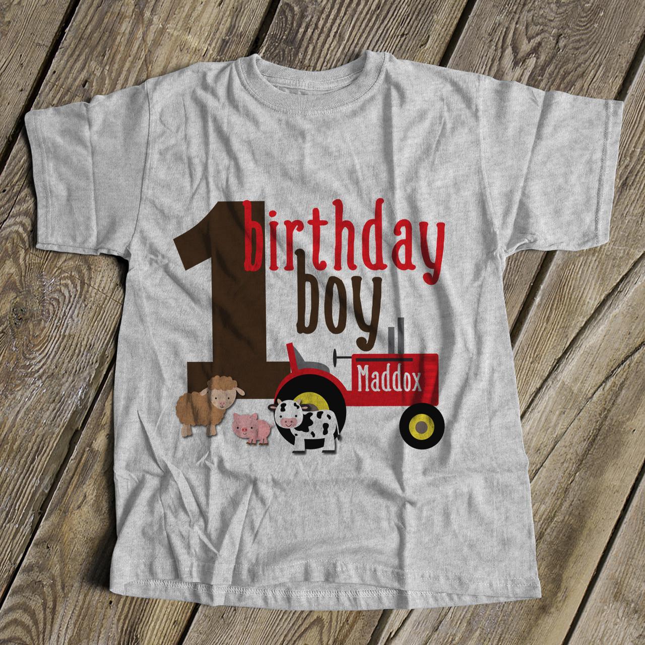 Custom Farmers Market Theme Infant 1st Birthday Jersey Tee