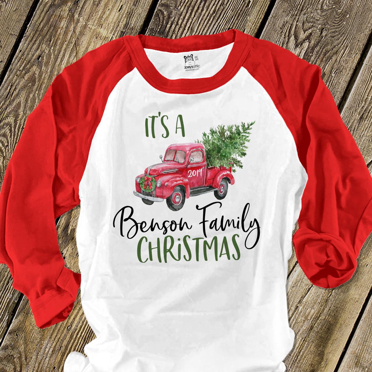 Santa Claus Personalized Christmas Raglan l Christmas Shirt l Personalized Christmas Raglan Shirt