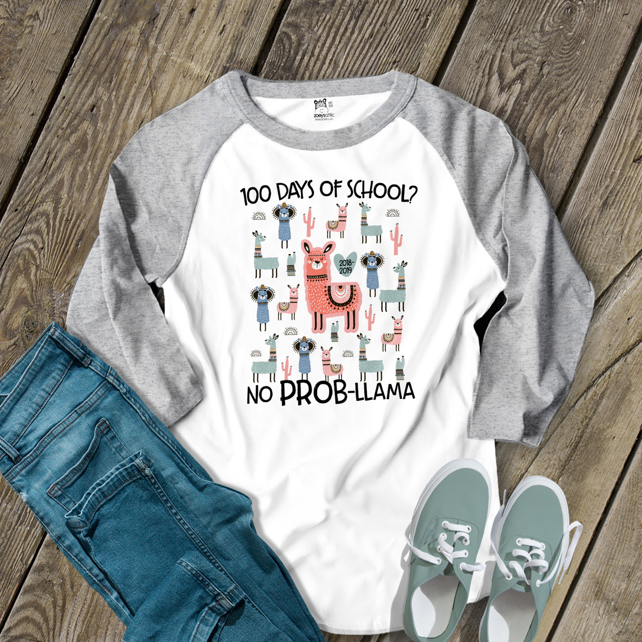 Funny Graduation Day for Teacher Gift Unisex T-Shirt Happy Last Day of School No ProbLlama Shirt