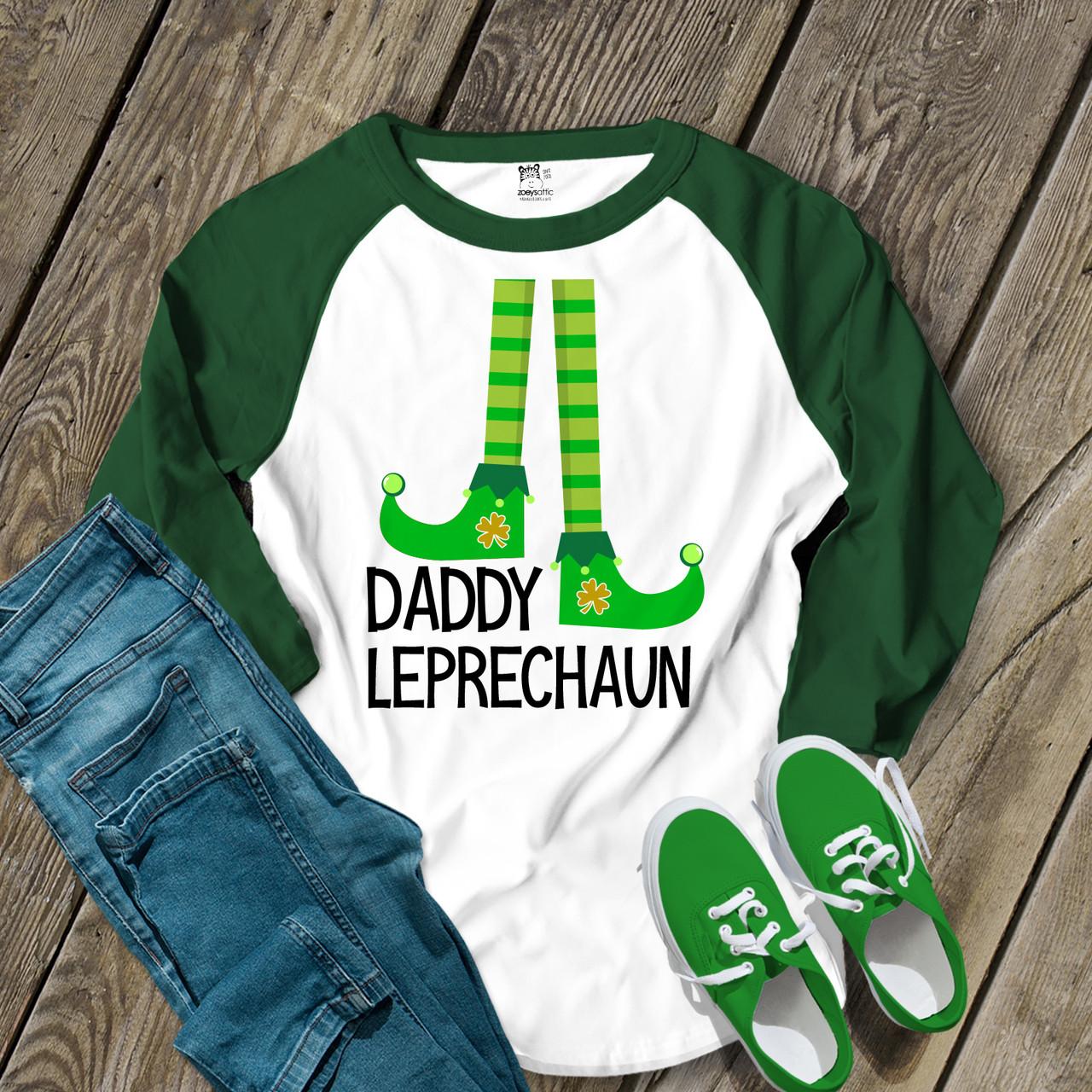 d493bbed3 st patricks day shirt, leprechaun daddy unisex raglan shirt