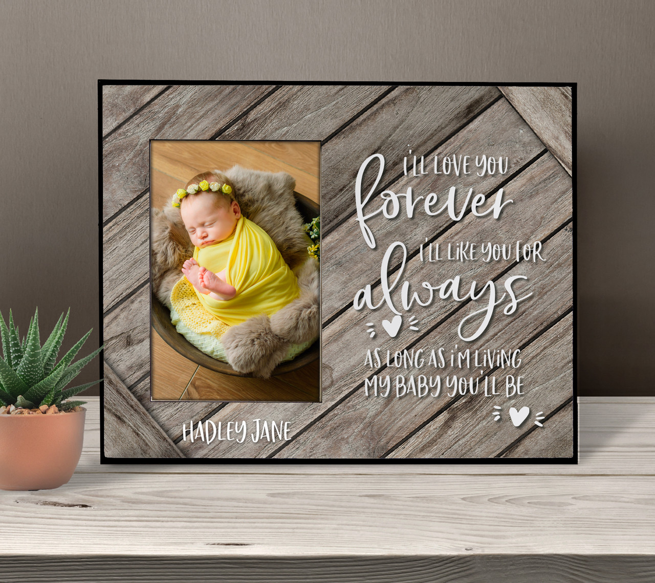 Christmas Mother/'s Day Gift Personalized Picture Frame Picture Frame Gift For Mom ON SALE I/'ll Love you Forever I/'ll Like You For Always